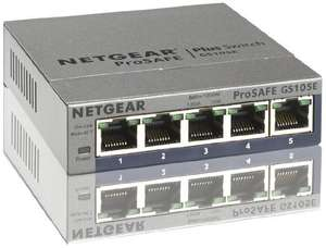 [Amazon Blitzangebote] Netgear GS105E-200PES Switch 5-Port - Web Managed Plus für 28 Euro