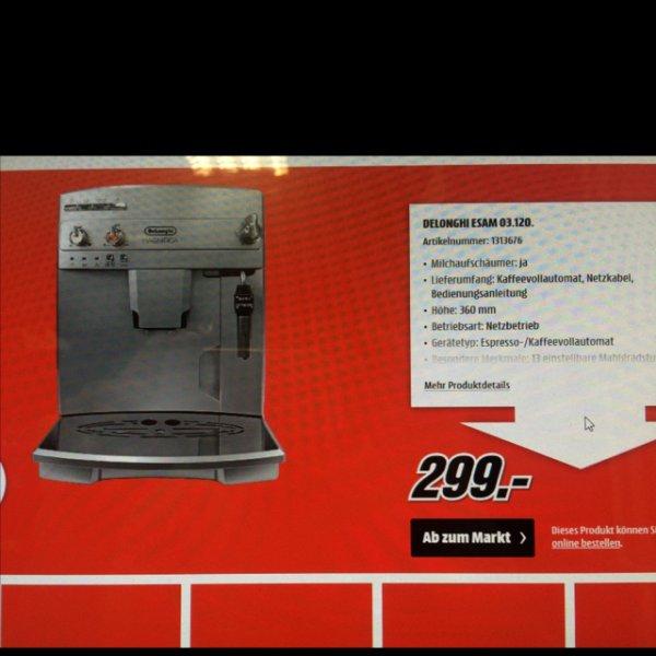 [MediaMarkt] Delonghi esam 03.120.S magnifica kaffeevollautomat für 299€