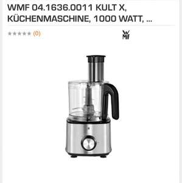 [Saturn] WMF 0416360011 KULT X KÜCHENMASCHINE für 65€ (Vergleicherpreis idealo: ~77€) Ersparnis ~12€