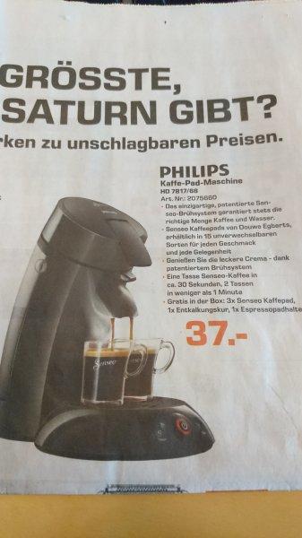 [Lokal Hannover] Philips Senseo 7817/68 für 37€ bei Saturn