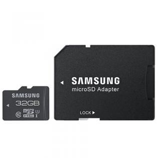 Samsung PRO Class 10 microSD 32GB Speicherkarte (bis 70MB/s Lesen, bis 20MB/s Schreiben, UHS-1) mit Adapter