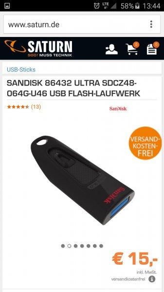 SanDisk 64gb USB- Stick