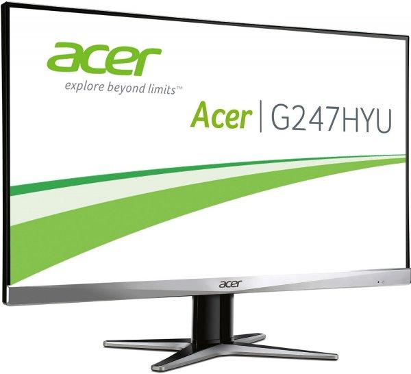 [Ebay Redcoon] Acer G247HYU LED Backlight Monitor (23,8'' 2.560x1.440 WQHD IPS matt, DisplayPort + HDMI + DVI,  350 cd/m², 4ms Reaktionszeit, 100.000.000:1, EEK B) für 239€