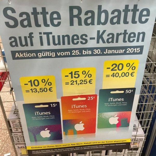 [Kaufland][Lokal?] bis zu 20% Rabatt auf iTunes Guthaben (z.B. 50€ Guthaben für 40€)
