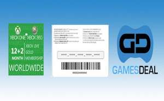 (Gamesdeal.com) Xbox Live Gold 12 Monate +2 Monate
