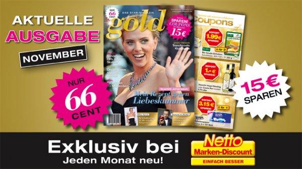 [Reebate] GOLD das Star-Magazin GRATIS (Netto Marken-Discount)