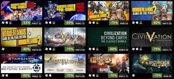 [Steam] 2K Publisher Wochenende z.b. Borderlands: The Pre-Sequel + Season Pass 20,99€