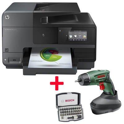 Für Gewerbe: HP Officejet Pro 8620 + Gratis Bosch Akkuschrauber PSR 7,2 LI + 31 tlg. Bitset
