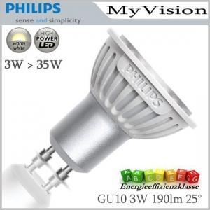 (Rewe) Philips Myvision GU10 LED Lampe 3W warmeiß (entspricht 35W)