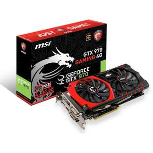 MSI GTX 970 Gaming 4G inkl. Rise of the Tomb Raider für 325 € @ Mindfactory