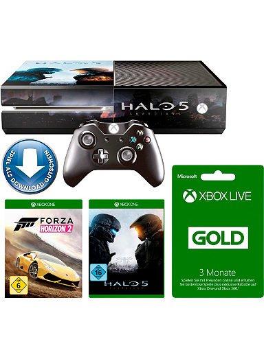 Xbox One 500GB + Forza Horizon 2 + Halo 5 + 3 Monate Xbox Live Konsolen-Set EUR 379.99