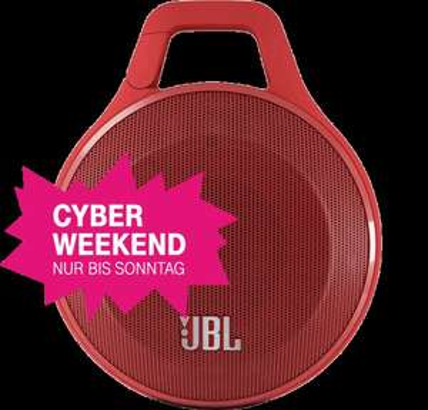 [Telekom Cyber Weekend] JBL Clip Red Bluetooth-Lautsprecher
