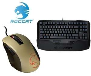 [One] Roccat Ryos Kone Bundle: Roccat Kone Pure Military - Desert Strike Gaming Maus, USB + Ryos TKL Pro Illuminated Gaming Keyboard - MX Brown, USB