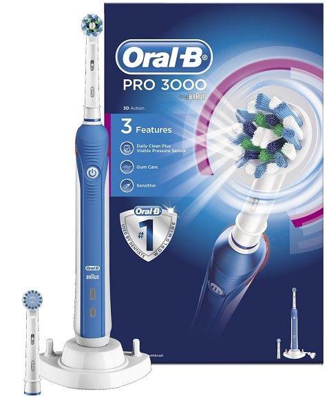 (Amazon.co.uk) Oral-B Pro 3000 -  € 20 günstiger als Idealo