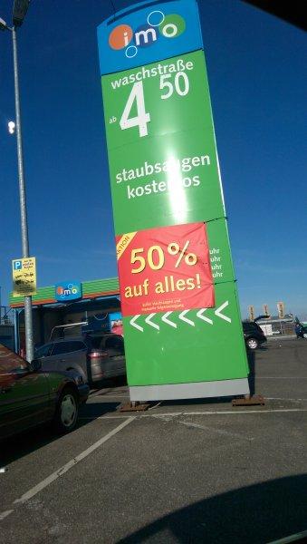 (Lokal Mannheim) 50% Rabatt auf alle Autowäschen