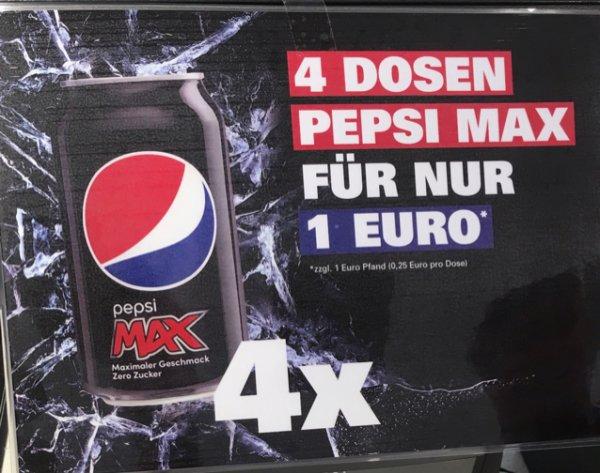 [Lokal KFC PF?] 4 Dosen Pepsi Max 1€