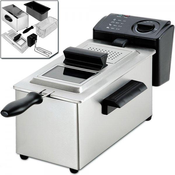 [ebay] Fritteuse Kaltzonen 3L Edelstahl INOX 2200W nur 27,95 Euro!