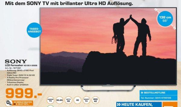 (Lokal) SONY KD55X8505 CBAEP für 999€ @ Saturn Aachen (Tagesangebot 1.2.16)