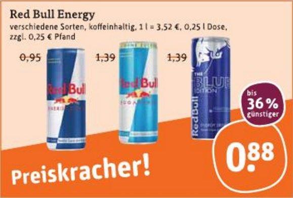 """[tegut, """"bundesweit""""] Red Bull (0,25l) + Sondereditionen - 0,88€ exkl. Pfand"""