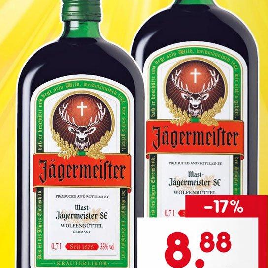 Jägermeister am Samstag für nur 8,88 € bei [Netto MD]