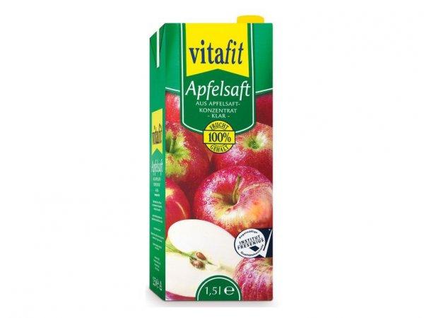 Vitafit klarer Apfelsaft 1,5 l für 0,77 € (Liter = 0,52 €) beim Super Samstag @ Lidl