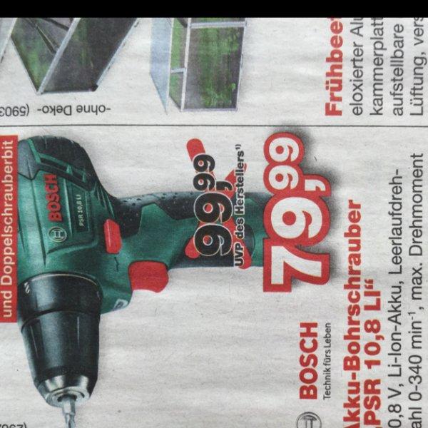 Hellweg Bosch PSR 10,8 LI inkl. Akku und Ladestation