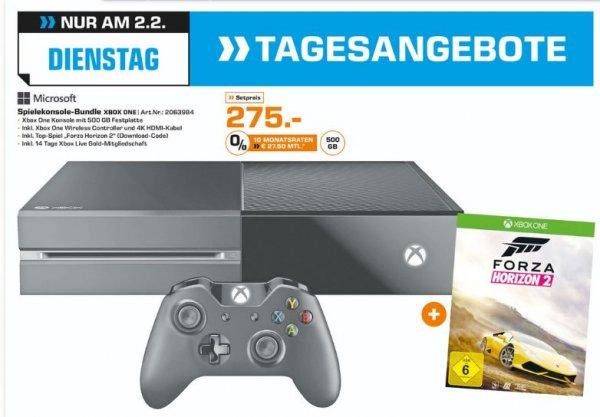 [Lokal Saturn Karlsruhe] Nur am 02.02...XboxOne mit 500GB (Matt) und Forza Horizon 2 für 275,-€