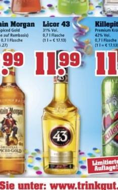 [trinkgut offline] Licor 43 für 11,99€