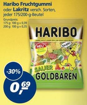 [REAL 01.02.-06.02.16] HARIBO Sauer Goldbären + div. Sorten