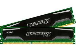 [amazon.co.uk] 16GB (2x 8GB) Crucial Ballistix Sport DDR3-RAM 1600 MHz PC3-12800 CL9 Kit