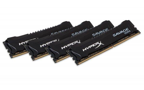 HyperX Savage HX424C12SB2K4/32 Arbeitsspeicher 32GB 2400MHz DDR4 CL12 DIMM Kit (4x8GB) @Amazon Marketplace für 63,66