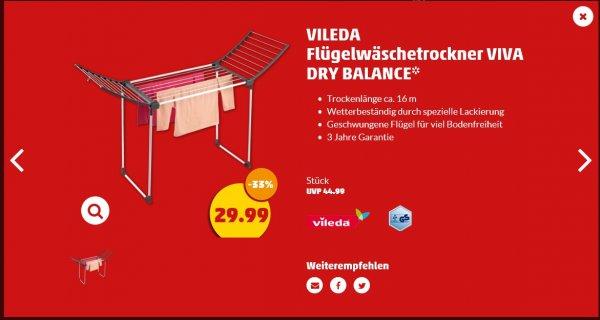 [ Penny KW06 ] VILEDA Flügelwäschetrockner VIVA DRY BALANCE ca. 30% billiger