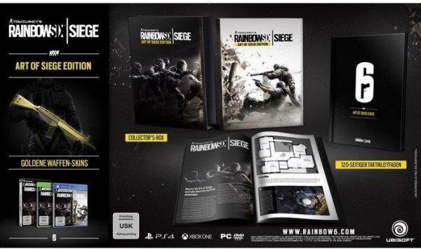 [Amazon] Ubisoft Games reduziert, wie: Tom Clancy's Rainbow Six Siege - Art of Siege Edition XB1 für/PS4 für 49,97€ - Steelbook 43,97€ oder The Crew - Limited Edition XB1 24,97€