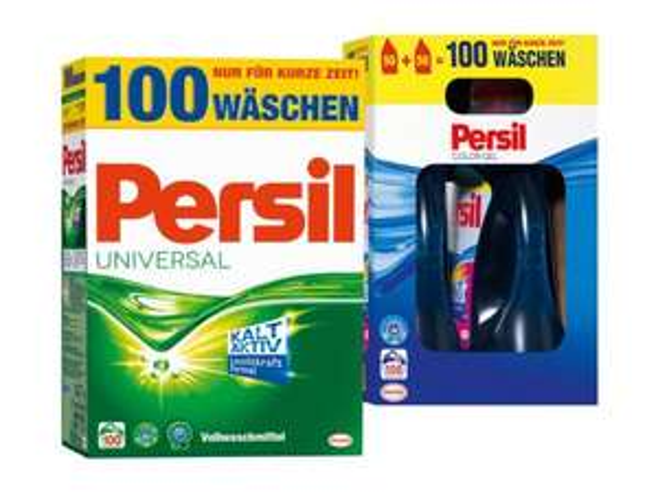 Persil Pulver / Gel 100 Waschladungen für 16,99€ | Lidl