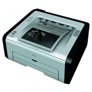 schwarz weiß Drucker SP 211 von Ricoh für 29,90 Euro