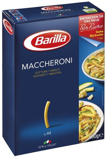 Amazon Prime : Barilla Maccheroni n. 44, 8er Pack (8 x 500 g) - Nur 5,68 €