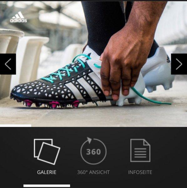 (Abgelaufen)Adidas ACE 15.1 FG/AG schwarz/Silber/weiß