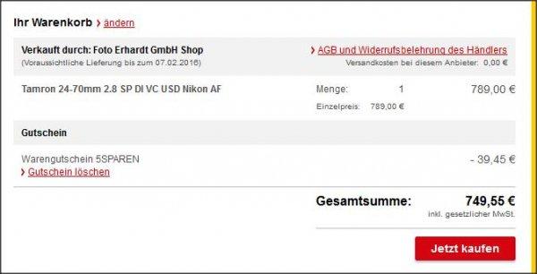 Objektiv Tamron 24-70mm 2.8 SP DI VC USD Nikon & Canon | Allyouneed |