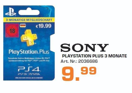 PSN Plus, Sony Playstation Plus 3 Monate + 12 Monate@ Saturn Hamburg PS3, PS4+PS Vita