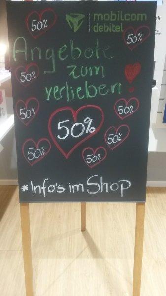 50% Rabatt auf Zubehör z.B. 49,50 Euro Bowers& Wilkins mobilcom debitel Shop Leipzig