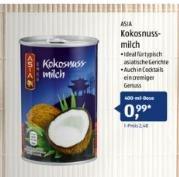 Kokosnussmilch 400 ml für nur 0,99€ bei Aldi Süd