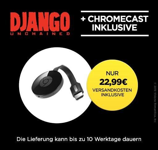"""[wuaki] Google Chromecast 2 [2015] + """"Django Unchained"""" [Stream] für 22,99€"""