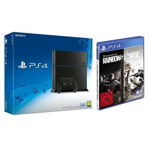 [Amazon] PlayStation 4 - Konsole (500GB, schwarz) [CUH-1216A] + Tom Clancy's Rainbow Six Siege - [PlayStation 4]