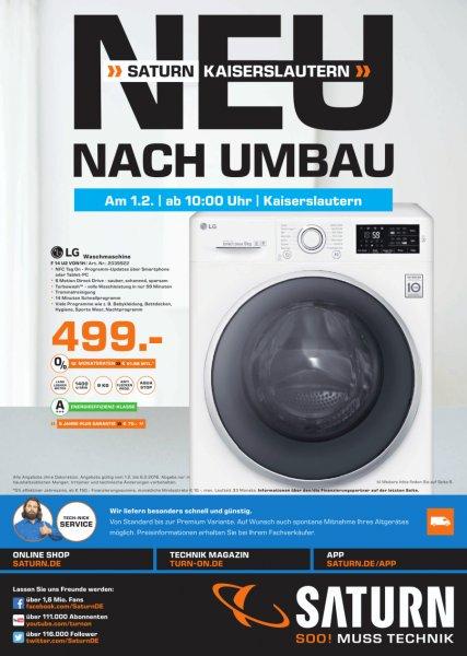 [Lokal] Saturn Kaiserslautern 9kg Waschmaschine LG F14U2VDN1H für 499€