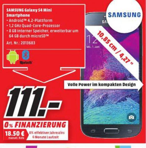 (Lokal) Samsung Galaxy S4 Mini Value Edition für 111€ @ Mediamarkt Koblenz (Tagesangebot 08.02)