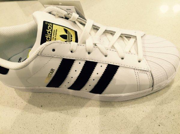 Adidas Superstar weiss/schwarz ABC Deppe