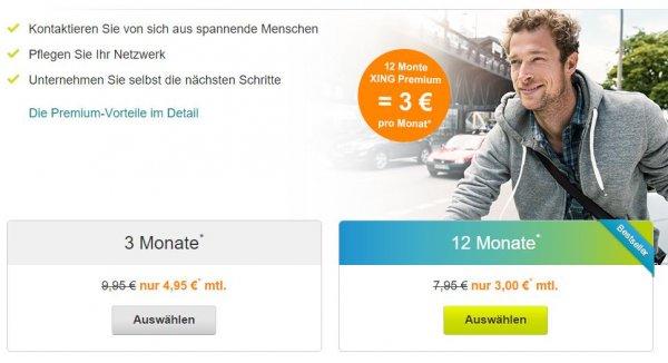 Xing Premium für 36 Euro pro Jahr (beschränkter Nutzerkreis)