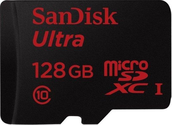 Sandisk Ultra microSDXC 128GB Class 10 UHS-I für 35€@ Media Markt