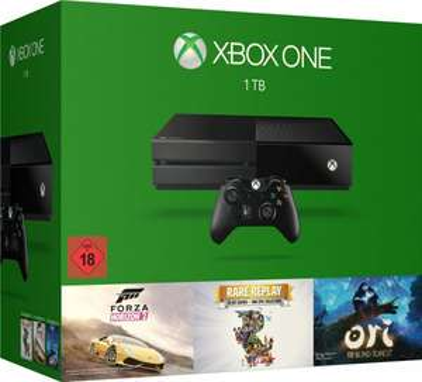 Microsoft Xbox One Konsole 1 TB inkl. Forza Horizon 2 + Rare Replay + Ori für 339€ @ Comtech