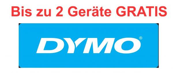 Bis zu 2 - ZWEI - Dymo Gerät GRATIS beim Kauf von 5x Dymo D1 Bändern